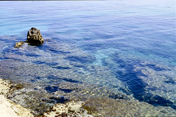 Crystal clear water of Nissaki